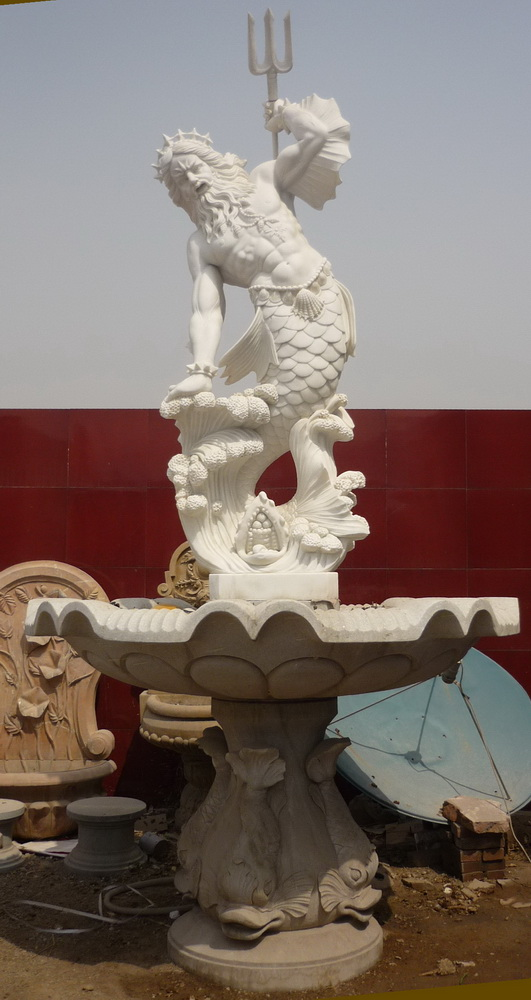 Sea God Marble Fountain