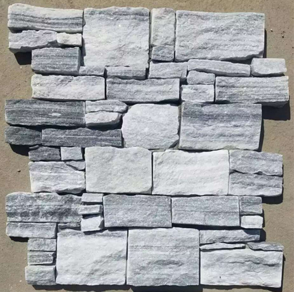Gray culture stones with cement